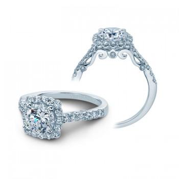 Verragio Round Diamond Engagement Ring with Diamond Halo