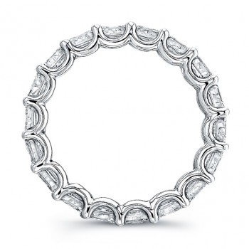 Uneek Platinum Asscher Cut Diamond Eternity Band-ETAS400