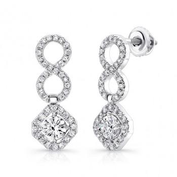 18K White Gold Diamond Earrings LVE311