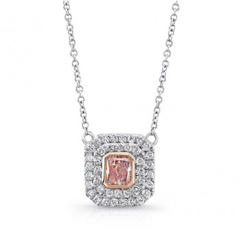 Natureal Collection Platinum and 18K Rose Gold Purple Pink Pendant LVN605