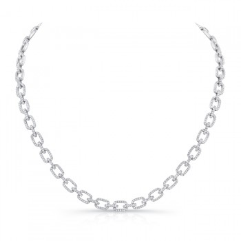 14K White Gold Diamond Necklace LVND08
