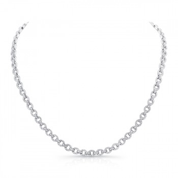 18K White Gold Diamond Necklace LVND09