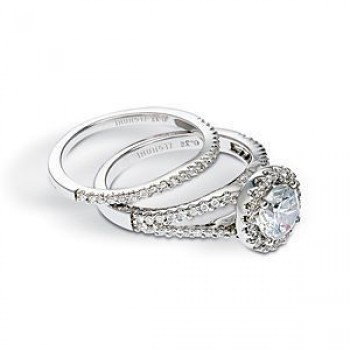 Stunning Zeghani Diamond Engagement Ring and Band Set