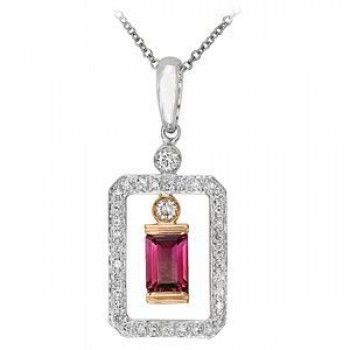 Beautiful Two-tone Zeghani Pink Tourmaline Pendant
