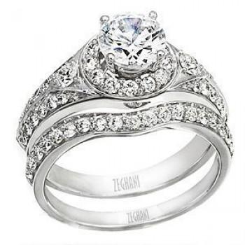 Stunning Designer Diamond Wedding Set by Zeghani