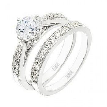 Zeghani Diamond Wedding Band and Engagement Set