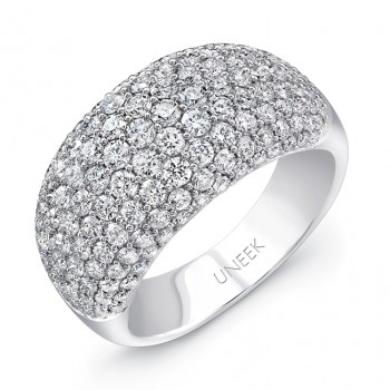 Uneek Pave Set Diamond White Gold Ring Large LVBW7108L
