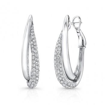 Uneek Hoop Diamond Earrings LVEW427W