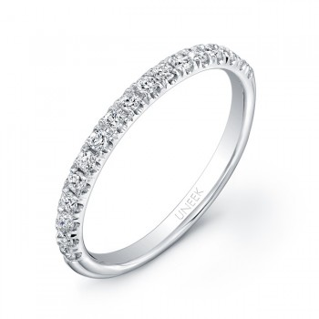 Uneek 17-Diamond U-Pave Wedding Band in 14K White Gold