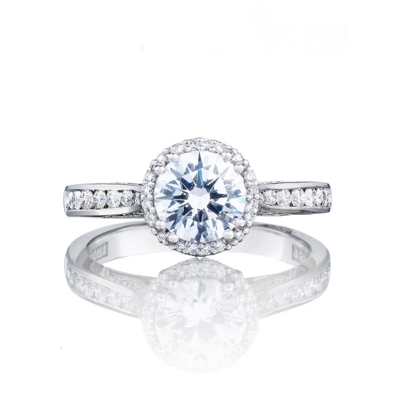 2646-25RDR65 Platinum Tacori Dantela Engagement Ring