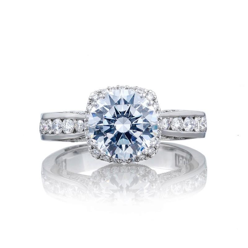 2646-35RDC8 Platinum Tacori Dantela Engagement Ring