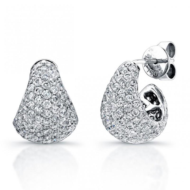 Uneek 18K White Gold Diamond Earrings E218