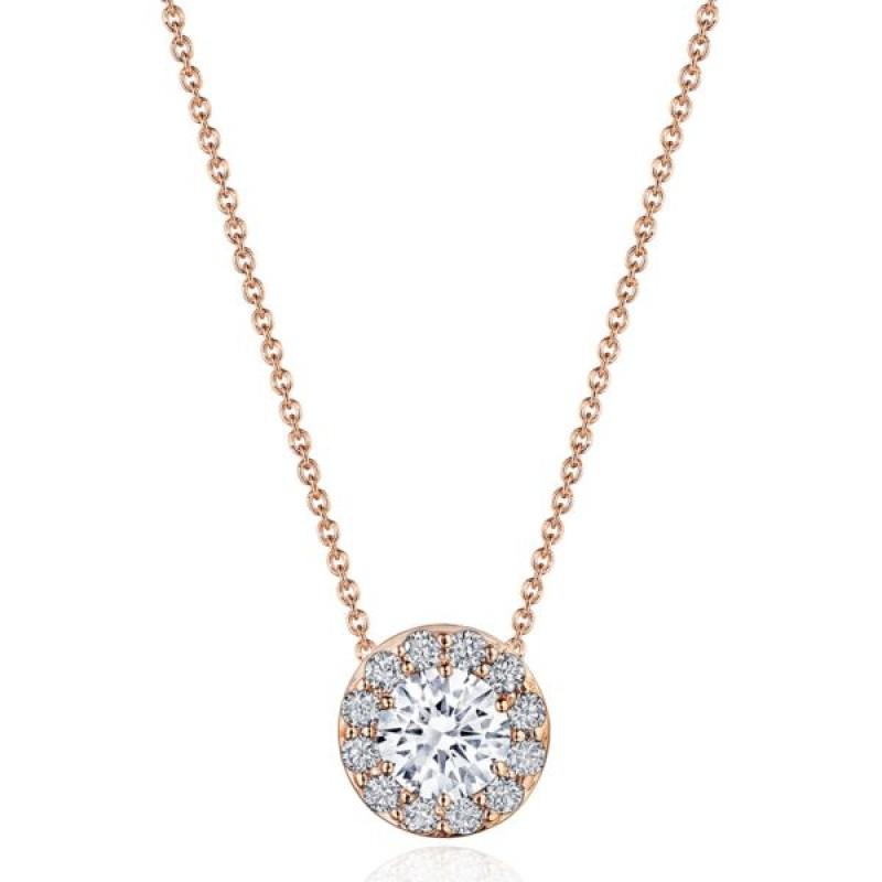 "17"" Single Bloom Diamond Necklace"