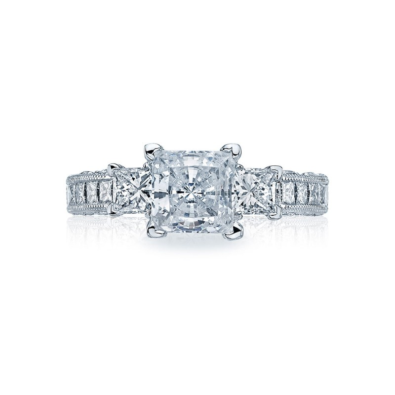 HT243012X Platinum Tacori Classic Crescent Engagement Ring