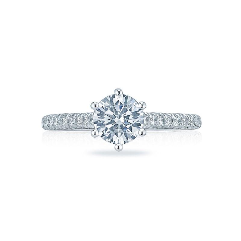 HT2546RD65 Platinum Tacori Classic Crescent Engagement Ring