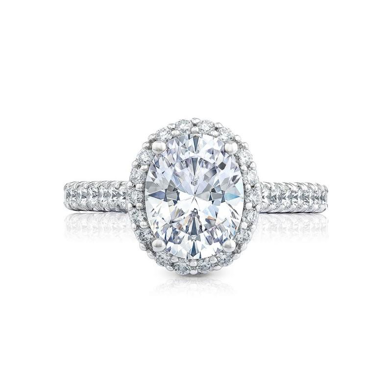 HT254725OV95X75 Platinum Tacori Petite Crescent Engagement Ring