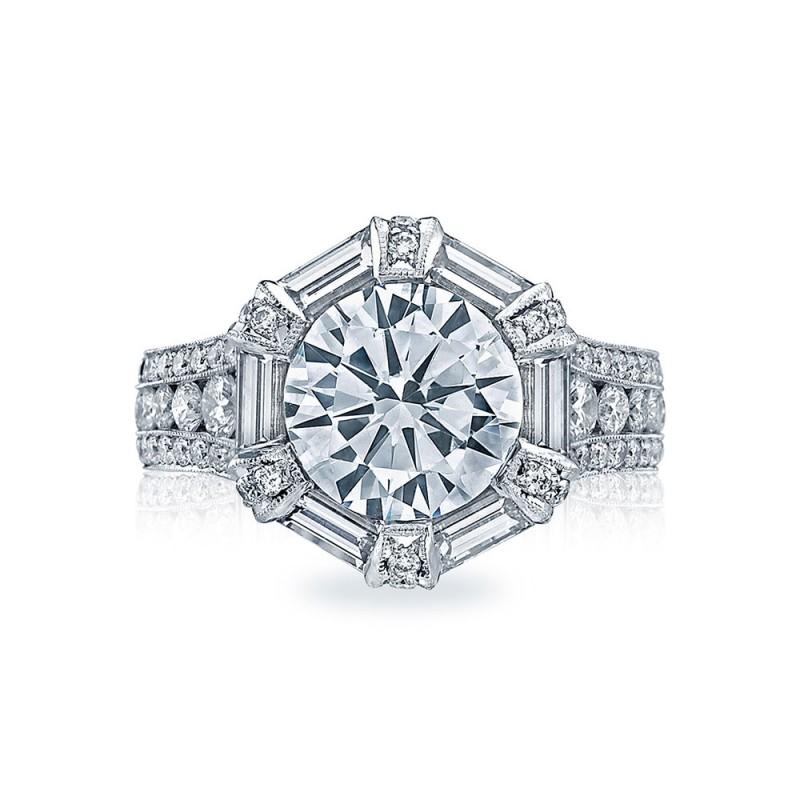 HT2603RD95 Platinum Tacori RoyalT Engagement Ring