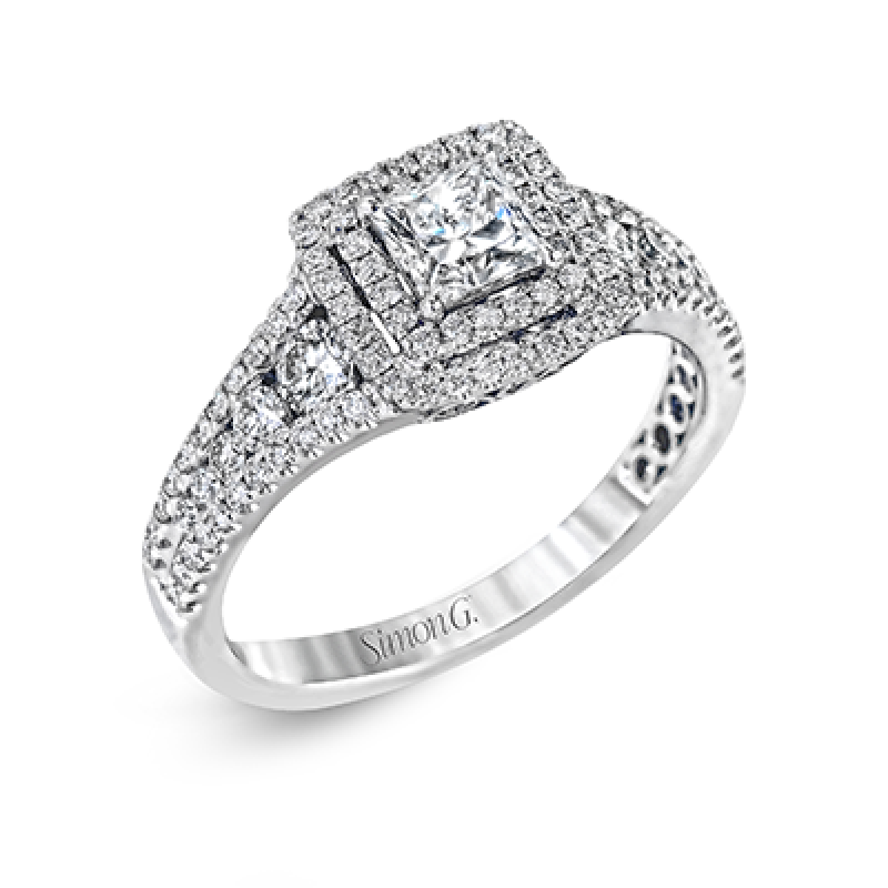 18K WHITE GOLD, WITH WHITE DIAMONDS. MR2589 - ENGAGEMENT RING
