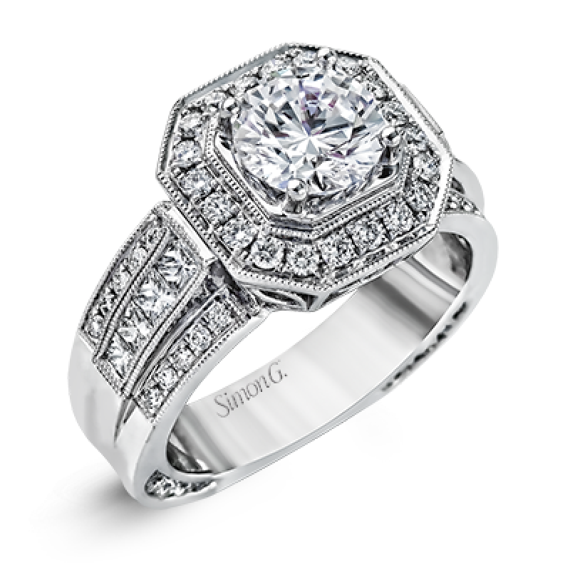 18K WHITE GOLD, WITH WHITE DIAMONDS. NR109 - ENGAGEMENT RING