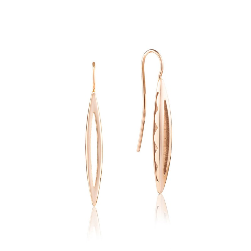 Pavé Surfboard French Wire Earring SE219P