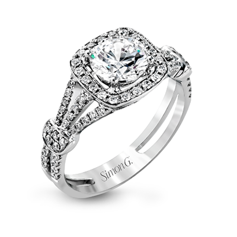 18K WHITE GOLD, WITH WHITE DIAMONDS. TR418 - ENGAGEMENT RING