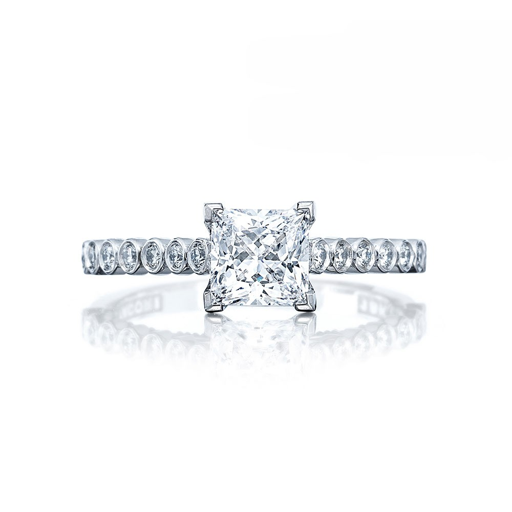 Tacori 200-2PR55 Platinum Sculpted Crescent Engagement Ring