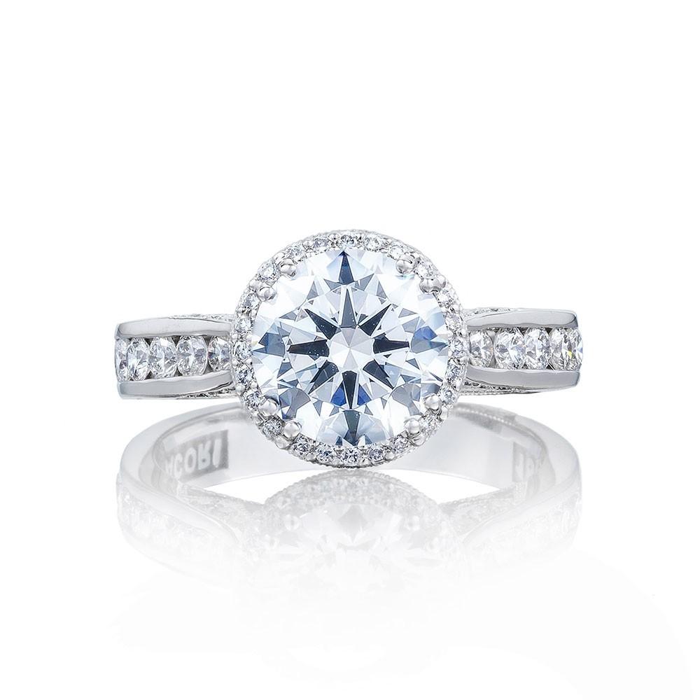 2646-35RDR8 Platinum Tacori Dantela Engagement Ring