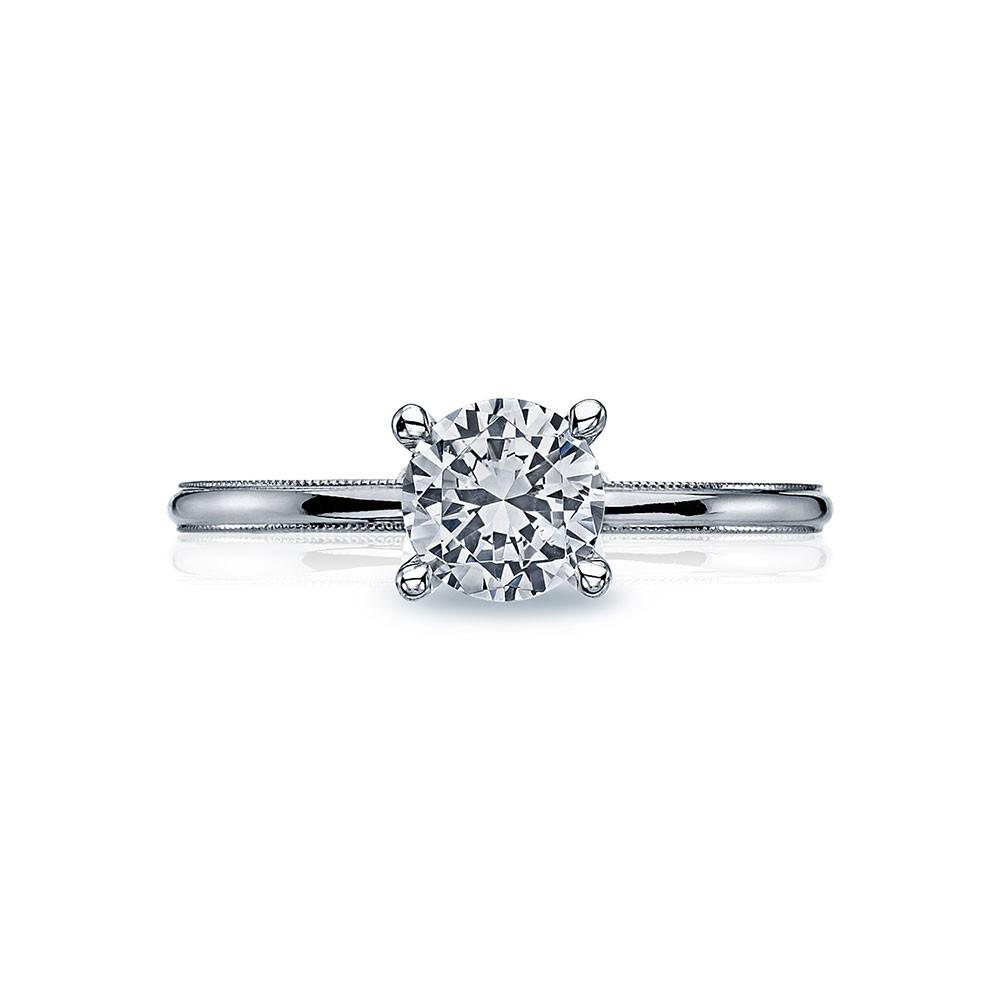 40-15RD6 Platinum Tacori Sculpted Crescent Engagement Ring