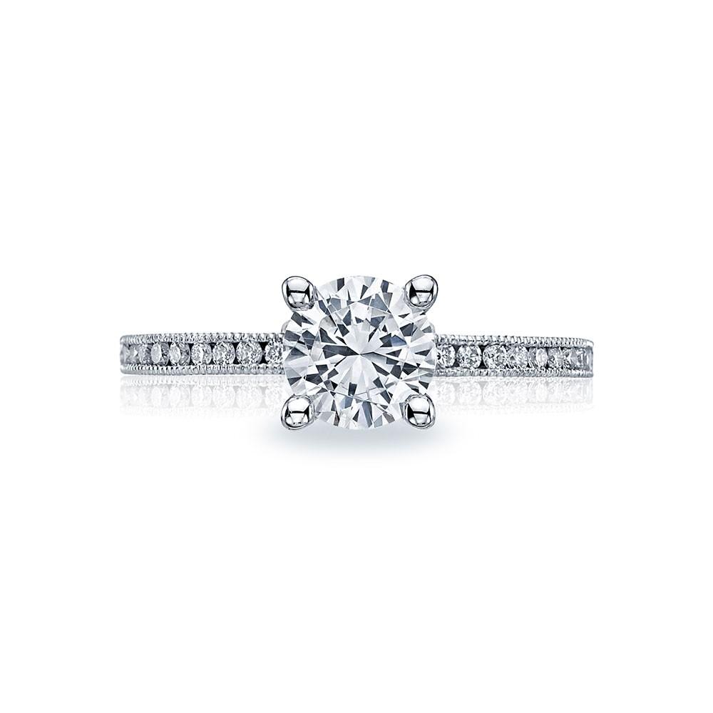 44-15RD65 Tacori Crescent Platinum Engagement Ring