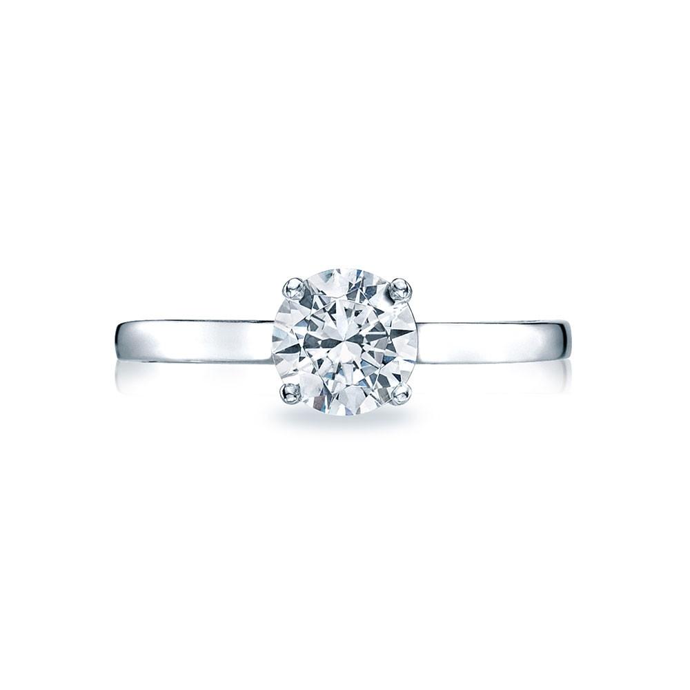 48RD65 Platinum Tacori Sculpted Crescent Engagement Ring