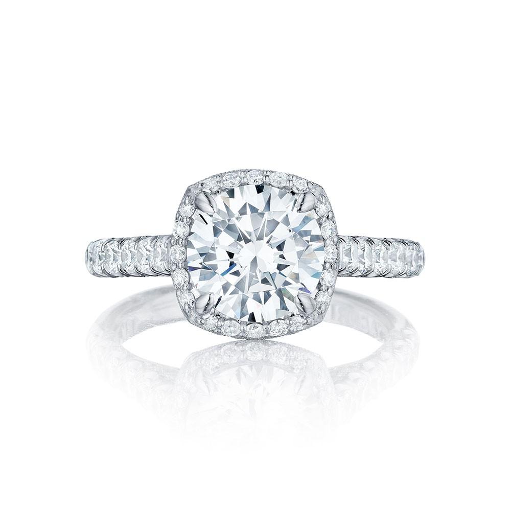 HT254725CU85 Platinum Tacori Petite Crescent Engagement Ring