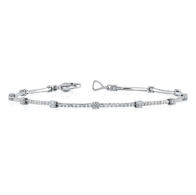Uneek 18K White Gold and Diamond Bracelet LBR107