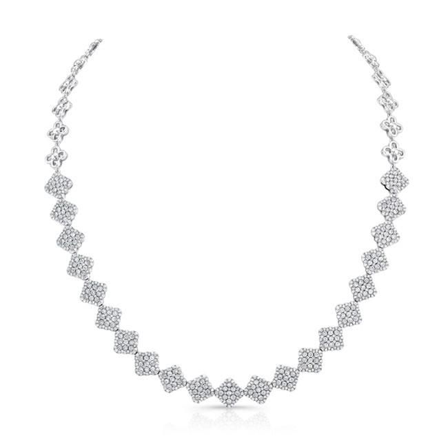 18K White Gold Diamond Necklace LVND03