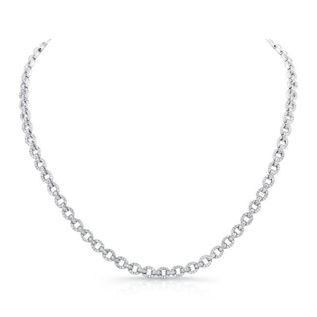 18K White Gold Diamond Necklace LVND09