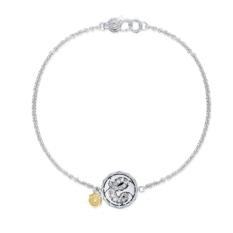Pavé Monogram Chain Bracelet, Sandblasted sb196esb