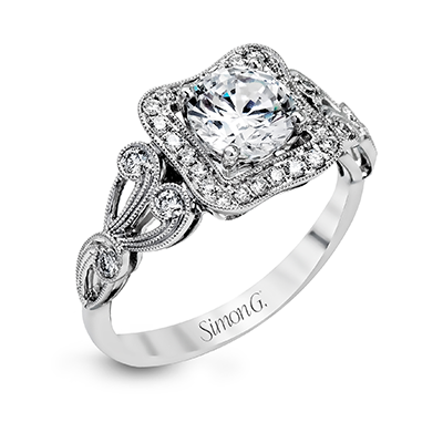 18K WHITE GOLD, WITH WHITE DIAMONDS. TR549 - ENGAGEMENT RING