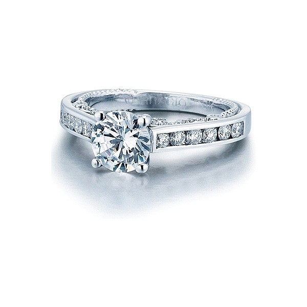 Verragio Round Brilliant Cut Channel Set Diamond Engagement Ring