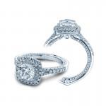 Verragio Double Halo Split Shank Engagement Ring