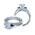 Verragio Diamond and Sapphire Twist Engagement Ring