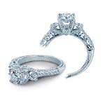 Verragio Three Stone Prong-Set Diamond Engagement Ring