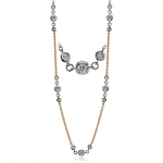 18K TWO TONE GOLD CH112 NECKLACE