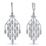 Uneek 18K White Gold and Diamond Chandelier Earrings E226
