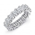 Uneek Platinum Princess Cut Diamond Eternity Band-ETPC500