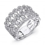 """Uneek """"Coralline"""" Open Lace Diamond Band in 14K White Gold"""