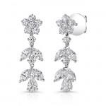 18K White Gold Diamond Dangling Earrings LVEM01