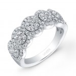 Bouquet Collection 14K White Gold Diamond Band LVR106