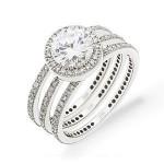 Fabulous Diamond Wedding Set by Zeghani