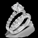 18K WHITE GOLD, WITH WHITE DIAMONDS. MR1907 - WEDDING SET