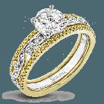 18K YELLOW & WHITE GOLD, WITH YELLOW & WHITE DIAMONDS. MR3058 - WEDDING SET