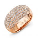 Uneek Pave Set Diamond Rose Gold Ring LVBW015R